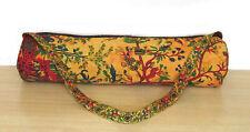 Indian Cotton Mandala Handmade Carry Strap Tote Bag Yoga Mat Adjustable Exercise