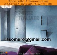 Sportello Filomuro con apertura invisibile 67 x 100