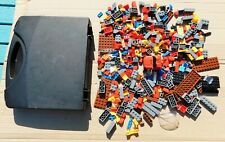 Lego Type Pieces in Black Playmobil Carry Case.  Toys.