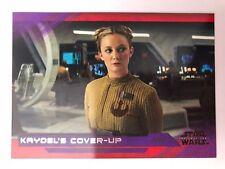 2018 Star Wars The Last Jedi Series 2 #43 Kaydel's Cover-Up PURPLE NrMint-Mint