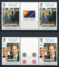 FALKLAND 1999 Royal Wedding Kgl. Hochzeit Prinz Edward Stegpaare 747-748 **