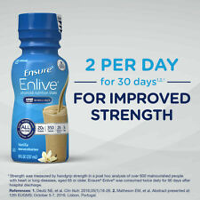 Ensure enlive with 20 grams protein Meal Replacement Shakes Vanilla, 8 oz x 12