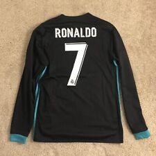 Authentic Real Madrid Cristiano Ronaldo Away Kit Jersey Black 2017 2018 (Medium)