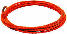 Orange 20 ft jr kids little looper rodeo youth roping rope western lasso lariat