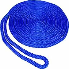 "Boat Marine Braided MFP Dock Line With Pre Sliced Eye 1/2"" X 15' Blue Floats"