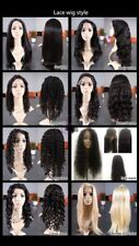 Wig 22 inch 100% Human Hair Half Lace superior quality stunning wigs