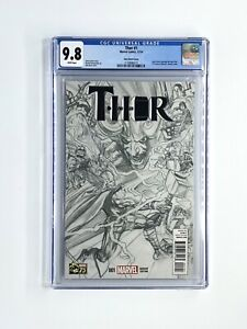 Thor #1 1:300 Alex Ross Sketch Variant CGC 9.8 - 1st App of Jane Foster as Thor!