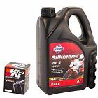 Silkolene Pro 4 10W40 Oil & K&N Oil Filter Kit For BMW 2004 R1100 S KN-163