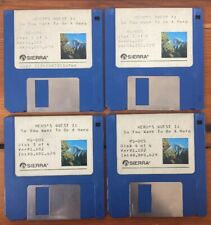 1989 Sierra Heros Quest 1 So You Want To Be A Hero MS DOS Ver 1.102 Floppy Disks