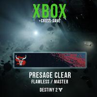 Destiny 2 | Flawless Master Presage | Xbox + Crossave