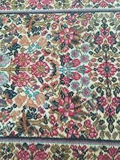 2.2x4 LANAMAR by KARASTAN Vintage RED Floral SAROUK - 5519- All WOOL Face RUG
