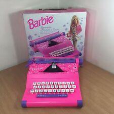 Boxed Barbie Typewriter Machine 54 Character Pink Mehano Mattel 1994