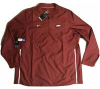 Nike Arkansas Razorbacks Sideline Lockdown Zip Pullover Jacket NEW Men's 2XL $80