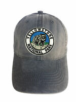 Yellowstone Park Black Adjustable Curved Bill Strap Back Dad Hat Baseball Cap