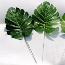6Pcs Artificial Palm Fern Turtle Leaf Plant Tree Branch Wedding Home Decor Pop