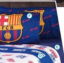 BARCELONA FOOTBALL CLUB ORIGINAL LICENSED SHEET SET 4 PCS QUEEN  SIZE