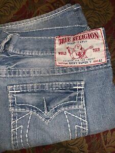 True Religion Ricky Super T 42 x 34 hipster flap pockets