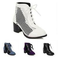 Details about  /Womens Ladies Warm Zip Up Chunky Block Heel Chelsea Ankle Boots Shoes 41 42 43 D