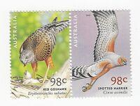 AUSTRALIA 2001 SE-TENANT PAIR of 98c MNH STAMPS - BIRDS OF PREY