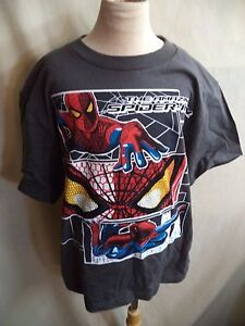Marvel Spiderman Childs T Shirt Sizes S-L Black, Blue Gray or Green NWT Super!