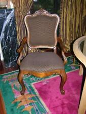 ETHAN ALLEN FRENCH UPHOLSTERED ACCENT CHAIR ORNATE CARVING