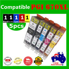 5x Ink Cartridges PGI-670XL CLI-671XL for Canon Pixma MG5760 5765 5766 6860 6865