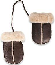NORDVEK Sheepskin Baby/Toddler Mittens on String (0-18 months) Chocolate Brown