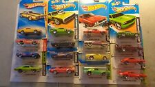 Hot Wheels lot of 4 Mopar Muscle Cars with Cards that may not be perfect 1:64 3+