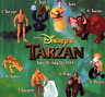 MCDONALD'S DISNEY TARZAN COMPLETE SET OF 8 IN PACKAGE TOYS - 4 HAPPY MEAL BAGS!