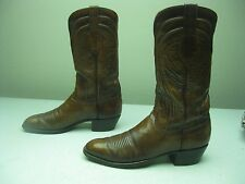VINTAGE SQUARE TOE MADE IN SAN ANTONIO USA LUCCHESE COWBOY WESTERN BOOTS 11 A