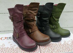 Ladies Heavenly Feet Hannah 2 Vegan friendly Mid Calf Zip Up Wedge Boots