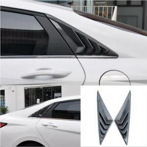 For Hyundai 2021+ Elantra carbon fiber ABS Side Vent Window Scoop Louver cover*2