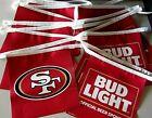 New 33' Long Bud Light San Francisco 49ers Football Beer String Banner Vinyl
