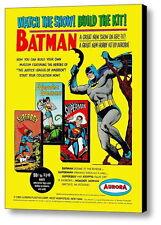 1965 Aurora Model Kits Batman Wonder Woman Superman Superboy Framed Magazine Ad