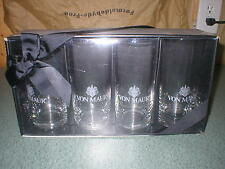 "4 Von Maur's Clear Tumblers Glasses Custom Engraved New in Box 6 1/4"" Tall"