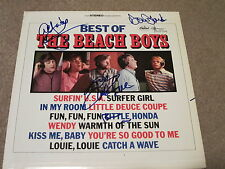 THE BEACH BOYS SIGNED RECORD X5 BRIAN WILSON MIKE LOVE