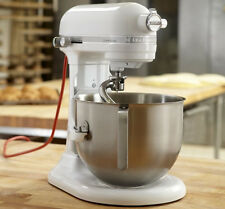KitchenAid Commercial 7-Qt Bowl Lift NSF Stand Mixer RKSM7990WH 1.3HPMotor White
