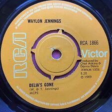 WAYLON JENNINGS - THE DAYS OF SABLE ET PELLES / Delia's Gone - RCA 1866 EX