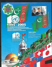 TURKMENISTAN Sc 100 NH MINISHEET of 2005 - UN AGREEMENT