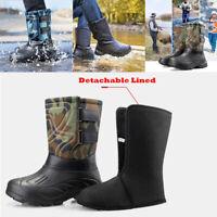 Outdoor Snow Boots Detachable Plus Velvet Men/'s Waterproof Winter Cotton Boots