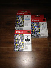 CANON ink lot 6 BCI-6PC, BCI-6C, BCI-6BK CYAN, PHOTO CYAN, BLACK new in box