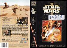 STAR WARS I - LA MINACCIA FANTASMA (1999) vhs ex noleggio