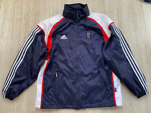 Salt Lake 2002 Summer Norway Olympic Team Training Rain Wind Jacket Adidas M