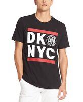 DKNY Men's Run Logo Graphic T-Shirt Black Size Medium