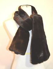 Studio 36 Brown Faux Fur Designer Scarf Comfort Wrap Collar