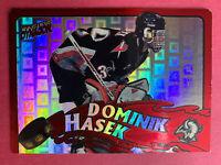 1997-98 Pacific Dynagon Stonewallers #3 Dominik Hasek Buffalo Sabres DieCut SP
