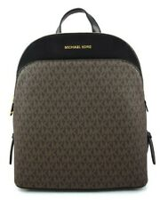 MICHAEL KORS EMMY LARGE BROWN/BLACK FAUX LEATHER BACKPACK