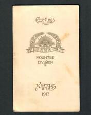 Ww1 Greetings N.Z. Anzac Mounted Div. Xmas1917 Egypt Gallipoli Sinai Palestine