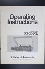 NATIONAL PANASONIC sg-2080l ORIGINAL INSTRUCCIONES DE EMPLEO / USO