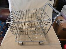 Vintage Metal Miniature Shopping Cart for Store Display or Dolls Awesome!